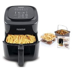 online shopping for NuWave Brio Black 6 Quart Digital Air Fryer 3 Piece Gourmet Accessory Kit from top store. See new offer for NuWave Brio Black 6 Quart Digital Air Fryer 3 Piece Gourmet Accessory Kit Air Fryer Sale, Nuwave Air Fryer, Large Air Fryer, Lemon Pepper Chicken Wings, Air Fryer Review, Best Air Fryers, Cooking Temperatures, How To Cook Chicken, No Cook Meals