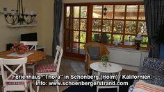 """Ferienhaus """"Thora"""" in Kalifornien Ostsee (Holm) Das 60 qm große Ferienhaus liegt in Schönberg-Holm und wurde für 4 Personen im modernen Landhausstil eingerichtet."""