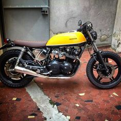 Cafe Racer #caferacer #cafe #racer #Milano #Italia #made #by #AnibaMotorcycles #Aniba #motorcycles. #moto #scrambler #passion #honda #750 #Yellow #black #modified #tuning #street #perfection #peace #braaap #braaap by djfrancescozara   m@rkus48