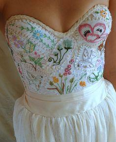 Custom Meadow Bustier Bridal Top... wedding dress by jadadreaming