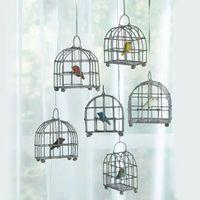 Six Little Bird Cages