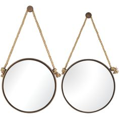 Round Mirror on Rope - Set of 2 | Sterling | Home Gallery Stores