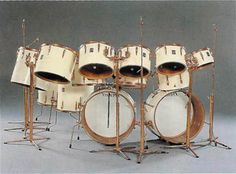 This kit is epic. Keith Moon had it custom made by Premier and went all out! Probably defining a lot about the modern drum kit. I could be wrong about that though. He actually asked for the rims, lugs and stands of this kit to be made out of pure gold, but premier advised against it because of rapid wear. The kit was passed from the Who drummer, Keith Moon to The Beatles drummer, Ringo Starr to Ringo's son, Zac Starkey and ended up in a museum in UK where it was auctioned off and for…