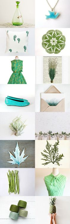 I  Love Green by Thévy on Etsy