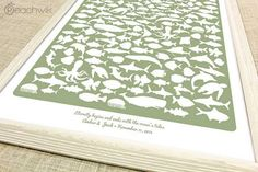 A beach-inspired wedding beachwik™ art print guestbook keepsake | See  more here: Unique Wedding Guest Book Ideas {Trendy Tuesday} | Confetti Daydreams ♥  ♥  ♥ LIKE US ON FB: www.facebook.com/confettidaydreams  ♥  ♥  ♥ #Wedding #WeddingTrends #GuestBook