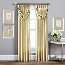 image of Spellbound Pinch-Pleat Window Curtain Panel and Valance Collection with Sound Asleep™ Curtain Liner