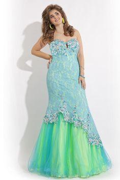 Custom Plus Size 2015 Illusion Green/Orange Sweetheart Beads Lace Mermaid Plus Size Sepcial Occasion Dresses Appliques Evening Prom Dress, $153.93 | DHgate.com