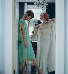 Sultry  Sea foam Green Jean Harlow Slip Gown by BoudoirQueen, $165.00