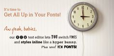 PicMonkey!  It's time to Get All Up in Your Fonts!