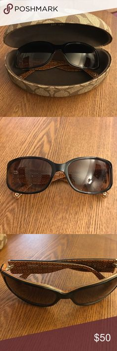 Coach Addison S03 Light Tortoise Sunglasses Coach sunglasses in excellent condition. Comes with original case. Tortoise frame and lenses are scratch/impact resistant with slight gradient. 100% UV protection. Coach Accessories Sunglasses