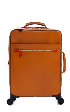"""Fashion Month Must: a chic travel bag! 22"""" Trolley In Luggage by Mark Cross for Preorder on Moda Operandi"""
