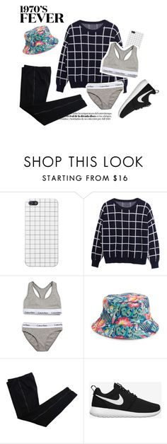"""FEVEER"" by panniiee ❤ liked on Polyvore featuring Calvin Klein Underwear, Amici Accessories, COSTUME NATIONAL, NIKE, blackandwhite, classy, fancy and CalvinKlein"