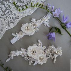 Купить Набор свадебных подвязок - белый, айвори, подвязка невесты, Подвязка для…