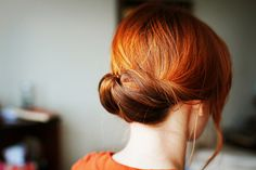"""Whenever I do this with my hair people ask me how it's done. Well, here ya go. Super easy for long and short styles."""