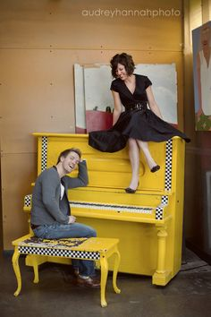 I love the yellow piano - NOT my piano, but I do like it for a photo shoot!