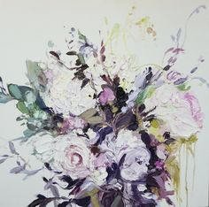 Floral Paintings by Stephanie Fehrenbach. Flower Images, Flower Art, Sailboat Painting, Art Inspiration Drawing, Modern Wall Art, Abstract Backgrounds, Abstract Art, Art Forms, Art Pictures