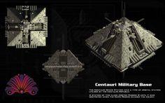 Centauri Military Base ortho by unusualsuspex on DeviantArt Spaceship 2, Spaceship Concept, Fiction Movies, Science Fiction Art, Anubis, Star Trek, Best Sci Fi Series, Space Opera, Star Wars Spaceships