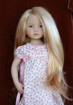 "Monique ""Adorabelle"" in Majestic Blond for Dianna Effner Little Darling Wig Only 