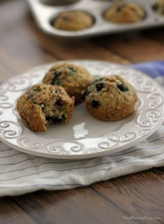 These tasty blueberry oatmeal muffins are a delicious, healthy breakfast or snack option for any time!