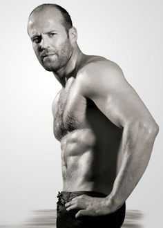 Jason Statham is the guy's body you want. I guess any age you would want his body, if you were a guy! For the rest of eye candy ! Jason Statham, Rosie Huntington Whiteley, Gorgeous Men, Beautiful People, Pretty People, Hot Men, Hot Guys, Celebrity Bodies, Guy Ritchie