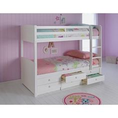 Buy Leigh Detachable Single Bunk Bed Frame - White at Argos.co.uk - Your Online Shop for Children's beds, Children's beds.