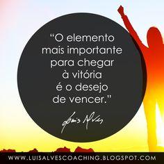 """PENSAMENTO DO DIA  Você tem o desejo de vencer?  QUOTE OF THE DAY: """"The most important element to achieve victory is the desire to win. - LUIS ALVES""""  Conheça o meu canal no YouTube: https://www.youtube.com/c/luisalvescoaching  #PensamentoDoDia #FraseDoDia #Motivação #AutoAjuda #LuisAlvesFrases #Coaching #LifeCoaching #Desejos #Vitória #Sucesso #FrasesMotivacionais #FrasesPositivas"""