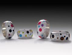 Silver Multicolor Resin Dot Ring - Anillo de plata y resina puntos multicolores