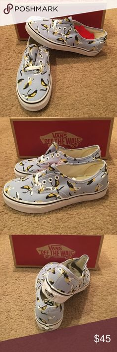 Authentic Bananas Vans New in box. Cashmere blue/True White Vans Shoes Sneakers