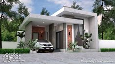 Sketchup House Modeling Idea From Photo – House Design Ideas Best Small House Designs, Unique House Design, Minimalist House Design, House Front Design, Minimalist Home, Single Floor House Design, My House Plans, Modern House Plans, Small House Plans
