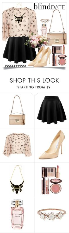 """Dress to impress him"" by keziatmrskasrf ❤ liked on Polyvore featuring Salvatore Ferragamo, Jimmy Choo, Charlotte Tilbury, Elie Saab and Kataoka"