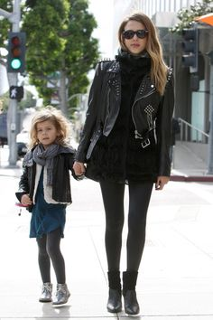 0bd22aa67cc Biker babes! Jessica Alba and her daughter Honor. Jessica Alba Family