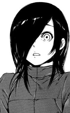 Anime   Girl   Tokyo Ghoul   Cute   Kawaii   Badass   Touka Kirishima   Monochrome   Manga