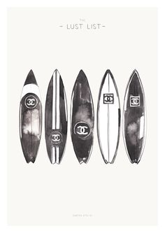 THE LUST LIST // SURFBOARDS