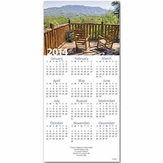 Western Retreat Z-fold Calendar New Year's Cards | Deluxe.com