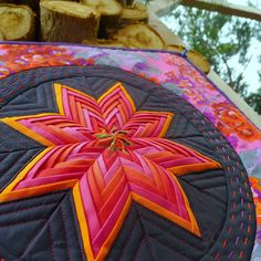 Folded Star by Charlotte of Lawson and Lotti, posted at Cabbage Quilts