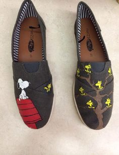 bcacb8f3f1 Peanuts Custom Painted Shoes by SoleSistersArt on Etsy