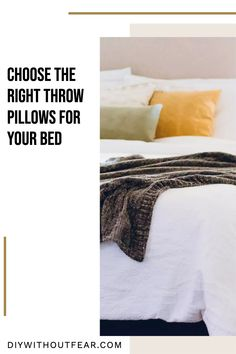 Choosing throw pillows for your bed is kind of like choosing friends. If you fall in love with a really 'loud personality' pillow, make sure its friends are there to support it, not compete against it. Throw pillows are a low-risk/high-reward decorating decision. There aren't hard and fast rules, and there are SO many options. Boys Room Design, Boys Room Decor, Boy Room, Kids Room, Girls Bedroom, Bedroom Ideas, Bedroom Decor, Modern Master Bedroom, Family Room Decorating