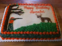Camo Girl Hunter Birthday Cake