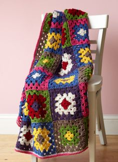 Eight-Color Afghan