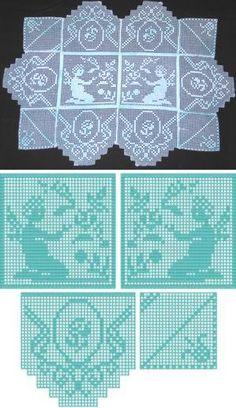 1000 images about tablecloths on pinterest crochet - Set de table crochet ...
