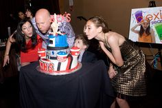 """Glee"" themed Bat Mitzvah cake at Lucky Strike Lanes lounge party"