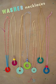  crazy lou creations   One of the easiest jewelry crafts for kids: washer necklaces