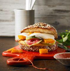 Vegetarischer Kürbisburger