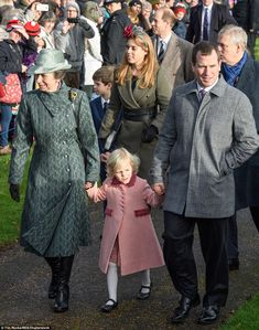 dailymail:  Christmas Morning Service, St Mary Magdalene Church, December 25, 2016-Princess Royal, Isla and Peter Phillips, James, Viscount Severn, Princess Beatrice, Earl of Wessex and Duke of York