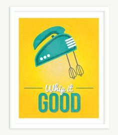 Quote Print Whip It Good Wall Decor Funny Art Retro 11x14