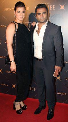 Sachiin Joshi with wife Urvashi Sharma at the showcasing of Kangana Ranaut's debut fashion collection. #Bollywood #Fashion #Style #Beauty #Hot