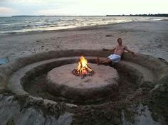 Beach couch fire pit. Yes please!