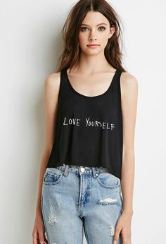 justin bieber love yourself boxy cropped tank by shoptrainwreck