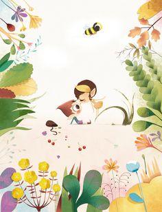 * Wonderfull stories * by Lucie Brunellière, via Behance