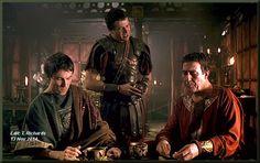 "L-R: Tobias Menzes as ""Brutus"", James Purefoy as ""Antony"", Ciarán Hinds as ""Caesar"" ie the Triumvirate of Hotness! James Purefoy, Tobias, Rome Hbo, Ciaran Hinds, Julius Caesar, Hbo Series, Ancient Rome, Actors & Actresses, Cinema"
